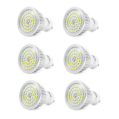 7W GU10 LED Spot Işıkları 48 led SMD 2835 Serin Beyaz 550-600lm 6000