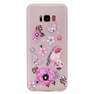 tok Για Samsung Galaxy S8 Plus S8 Στρας Λάμπει στο σκοτάδι Με σχέδια Πίσω Κάλυμμα Πεταλούδα Λουλούδι Μαλακή TPU για S8 S8 Plus S7 edge S7