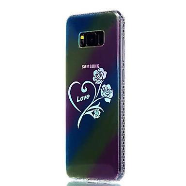 Hülle Für Samsung Galaxy S8 Plus S8 Beschichtung Durchscheinend Muster Rückseitenabdeckung Blume Weich TPU für S8 S8 Plus S7 edge S7