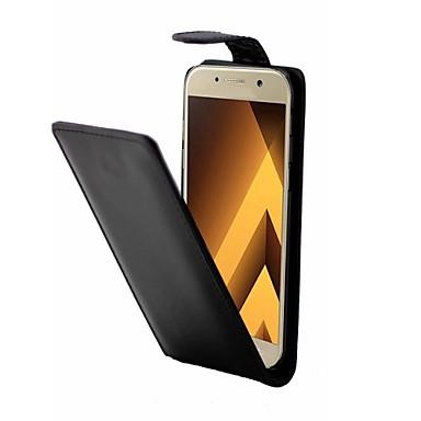 غطاء من أجل Samsung Galaxy A5(2017) A3(2017) قلب كامل الجسم لون الصلبة قاسي جلد اصطناعي إلى A3 (2017) A5 (2017)