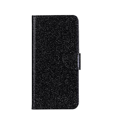 إلى أغط / كفرات محفظة حامل البطاقات مع حامل قلب نموذج كامل الجسم غطاء لامع بريق قاسي جلد اصطناعي إلى HuaweiHuawei P9 Lite Huawei P8 Lite