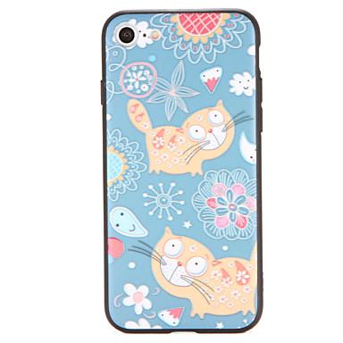 Pouzdro Uyumluluk iPhone 7 Plus iPhone 7 iPhone 6s Plus iPhone 6 Plus iPhone 6s iPhone 6 Apple Temalı Arka Kapak Kedi Çiçek Sert PC için