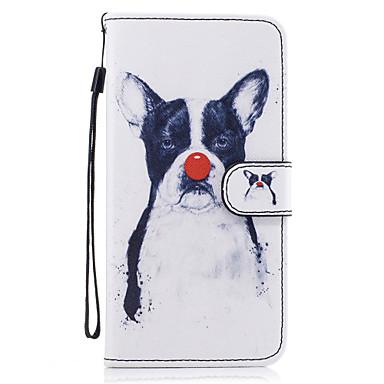 Varten kotelot kuoret Lomapkko Korttikotelo Tuella Flip Kuvio Magneetti Kokonaan peittävä Etui Koira Kova Tekonahka varten SamsungS8 S8