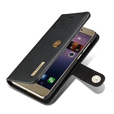 Pentru huawei p8 lite (2017) carcasa pentru carcasa portofelului portbagaj cu stand flip magnetic full body solid color hard din piele