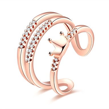 Dames Ring Zirkonia Gepersonaliseerde Meetkundig Uniek ontwerp Klassiek Vintage Bohémien Standaard Vriendschap oversteekplaats Modieus