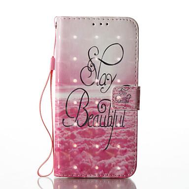 غطاء من أجل Samsung Galaxy S8 Plus S8 حامل البطاقات محفظة مع حامل قلب نموذج غطاء كامل للجسم جملة / كلمة قاسي جلد PU إلى S8 Plus S8 S7
