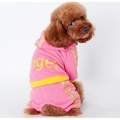 Câine Haine Tricou Îmbrăcăminte Câini Draguț Modă Sport Desene Animate Roz Negru Costume Pentru animale de companie