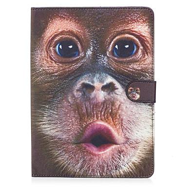 Maska Pentru Apple iPad 4/3/2 iPad Air 2 iPad Air Titluar Card Portofel Cu Stand Întoarce Magnetic Model Carcasă Telefon Animal Greu PU