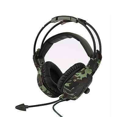 sades sa-931 süper stereo bas kamuflaj kulaklık ev ofis oyun oyun gürültü izolasyonu rahat kulaklıklar
