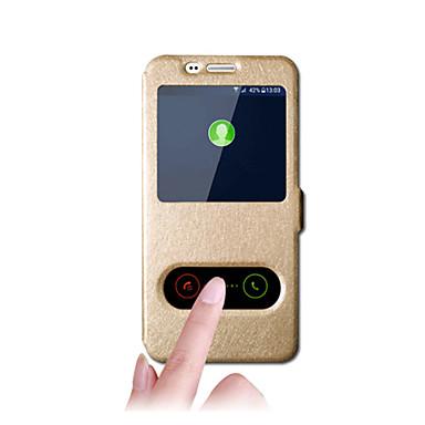 Hülle Für Samsung Galaxy A5(2017) A3(2017) Flipbare Hülle Magnetisch Handyhülle für das ganze Handy Volltonfarbe Hart Kunst-Leder für A3