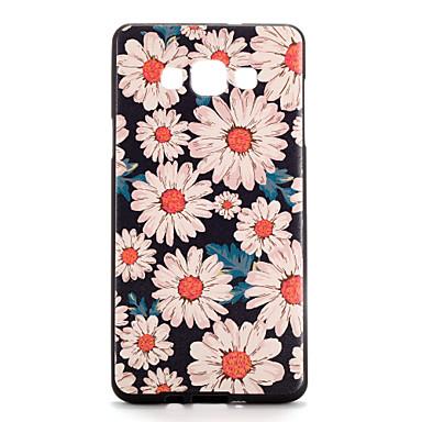 Kılıf Na Samsung Galaxy Wzór Czarne etui Kwiaty Miękkie TPU na A7 A5