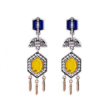 Κρίκοι Κρυστάλλινο Μοναδικό Εξατομικευόμενο Euramerican Κίτρινο Κοσμήματα Για Γάμου Πάρτι Γενέθλια 1 ζευγάρι