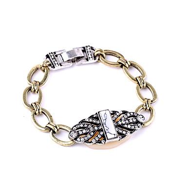 Γυναικεία Βραχιόλια με Αλυσίδα & Κούμπωμα Κοσμήματα Φιλία Μοντέρνα Κράμα Geometric Shape Μαύρο Κοσμήματα Για Γάμου 1pc