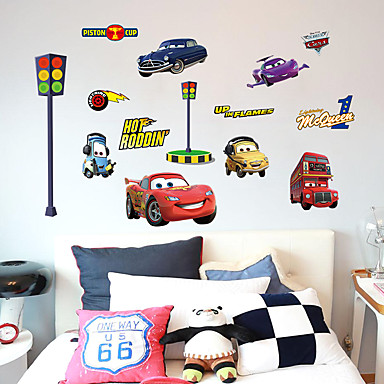Mode Transport Cartoon Muurstickers Vliegtuig Muurstickers Decoratieve Muurstickers, Papier Huisdecoratie Muursticker Wand Glas / Badkamer