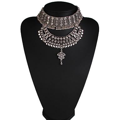 Kadın's Uçlu Kolyeler Mücevher Mücevher Değerli Taş alaşım Moda Euramerican Mücevher Uyumluluk Parti