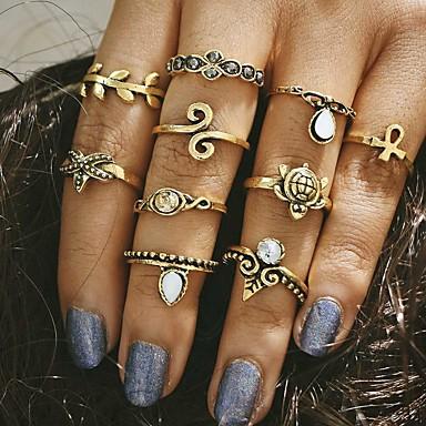 للمرأة مجوهرات ذهبي فضي سبيكة تصميم فريد قديم موضة زفاف حزب يوميا فضفاض مجوهرات