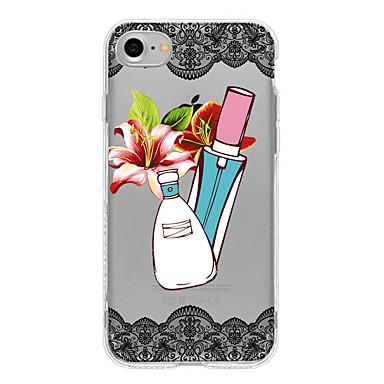 Için Kılıflar Kapaklar Yarı Saydam Arka Kılıf Pouzdro Dantel Tasarımı Çiçek Yumuşak TPU için AppleiPhone 7 Plus iPhone 7 iPhone 6s Plus