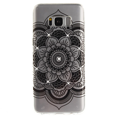 hoesje Voor Samsung Galaxy S8 Plus S8 Strass IMD Transparant Achterkantje Mandala Zacht TPU voor S8 S8 Plus S7 edge S7