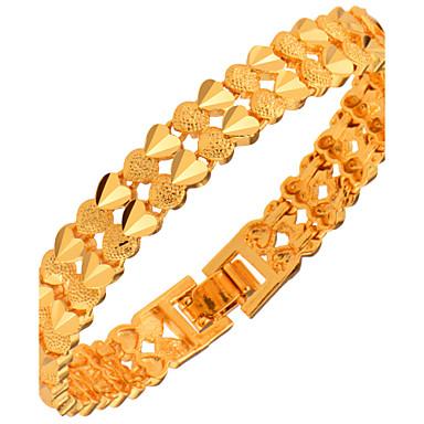 Męskie Damskie Bransoletki i łańcuszki na rękę Biżuteria Modny Złoty Miedź Pozłacane Geometric Shape Biżuteria Prezenty bożonarodzeniowe