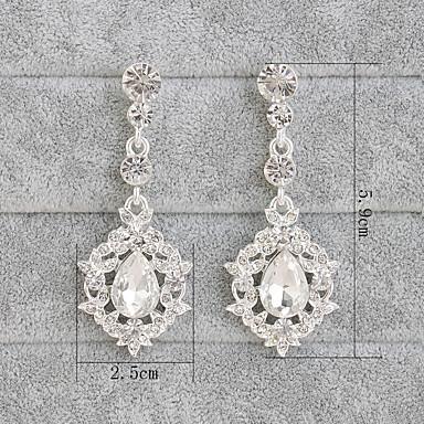 Pentru femei Ștras Cercei Picătură - Euramerican Modă Argintiu cercei Pentru Cadouri de Crăciun Nuntă Petrecere Ocazie specială