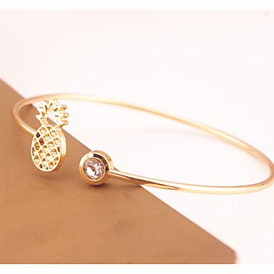 Women's Cuff Bracelet Rhinestone Fashion Copper Irregular Jewelry Party Special Occasion Costume Jewelry Gold Silver