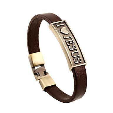 Heren Dames Lederen armbanden Vintage Vriendschap Leder Rond Sieraden Vuosipäivä Lahja mielitietty