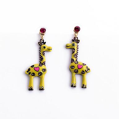 Κουμπωτά Σκουλαρίκια Κρυστάλλινο Εξατομικευόμενο Euramerican Animal Shape Κίτρινο Κοσμήματα Για 1 ζευγάρι