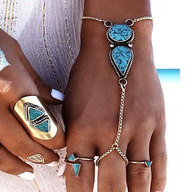 Damen Tropfen Ring-Armbänder - Böhmische Modisch Silber Armbänder Für Party