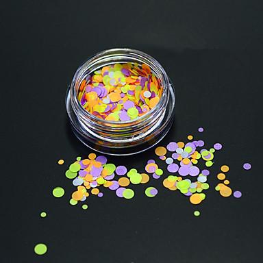 1bottle muoti värikäs pyöreä viipale kynsikoristeet DIY kauneus Glitter kierroksella paillette ohut viipale koristeluun p30