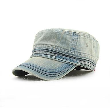 baratos Acessórios Masculinos-Unisexo Trabalho Algodão,Boné Chapéu de sol Sólido Azul Preto Azul Claro
