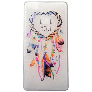 غطاء من أجل Huawei IMD شفاف نموذج غطاء خلفي قلب ملاحق الأحلام ناعم TPU إلى Huawei P10 Huawei P9 Lite Huawei P8 Lite (2017)