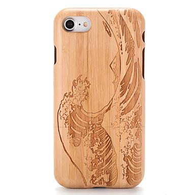 Недорогие Кейсы для iPhone-Кейс для Назначение Apple iPhone 7 Plus / iPhone 7 / iPhone 6s Plus Рельефный / С узором Кейс на заднюю панель Имитация дерева / Мультипликация Твердый деревянный