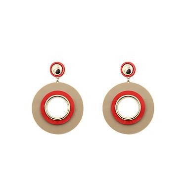 للمرأة أقراط قطرة مجوهرات مخصص تصميم دائري euramerican في أسلوب بسيط الولايات المتحدة الأمريكية موضة أكريليك سبيكة دائري مجوهرات هدايا