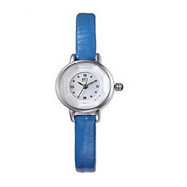 Dames Modieus horloge Kwarts Leer Band Zwart Wit Blauw Bruin