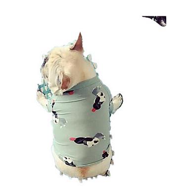 Câine Tricou Îmbrăcăminte Câini Draguț Casul/Zilnic Floare Verde Deschis Costume Pentru animale de companie