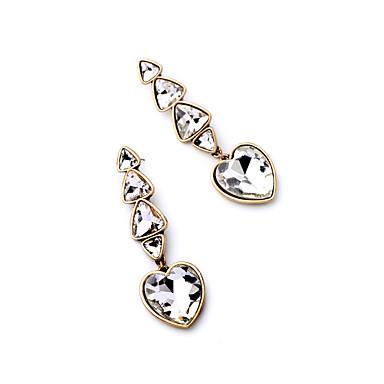 Halka Küpeler Kristal Çok güzel Kişiselleştirilmiş Euramerican minimalist tarzı Beyaz Mücevher Için Düğün Parti Doğumgünü 1 çift