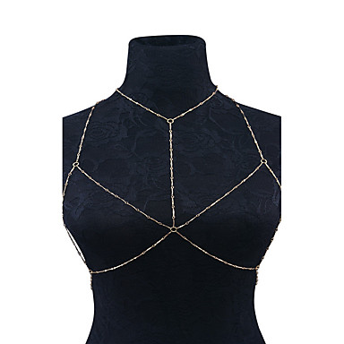 Dames Lichaamssieraden Body Chain / Belly Chain Met de hand gemaakt Modieus Legering Geometrische vorm Sieraden Voor Causaal 1 stuks