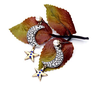 Cercei Rotunzi Cristal Design Unic Personalizat Euramerican Argintiu Bijuterii Pentru Nuntă Petrecere Zi de Naștere 1 pereche