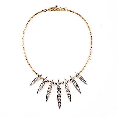 للمرأة القلائد بيان Leaf Shape تصميم فريد أبيض مجوهرات إلى يوميا 1PC
