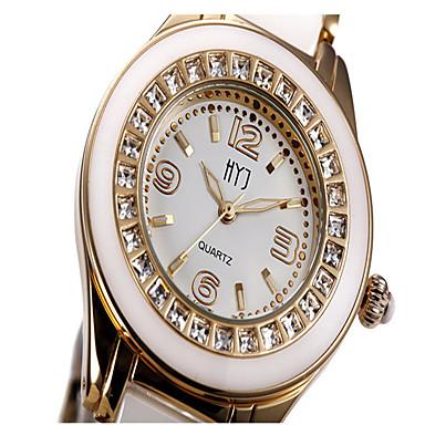 Dames Modieus horloge Kwarts Keramiek Band Wit Zilver