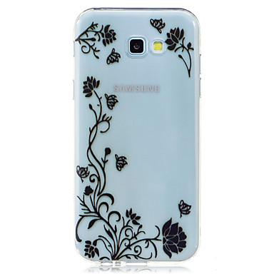 غطاء من أجل Samsung Galaxy A5(2017) A3(2017) شفاف نموذج غطاء خلفي فراشة زهور ناعم TPU إلى A3 (2017) A5 (2017) A7 (2017) A5(2016) A3(2016)