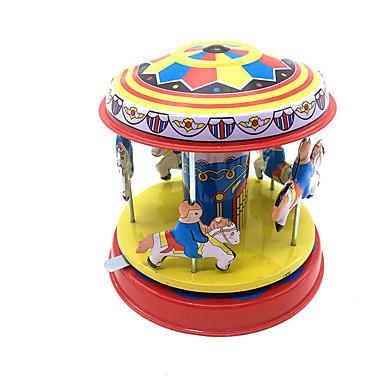 Κουρδιστό παιχνίδι Χαριτωμένο Άλογο Καρουζέλ Merry Go Round Μεταλλικό Σίδερο 1pcs Κομμάτια Αγορίστικα Παιδικά Δώρο