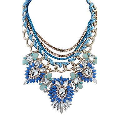 billige Mode Halskæde-Dame Erklæring Halskæder Smykker Smykker Ædelsten Legering Mode Euro-Amerikansk Smykker Til Fest Speciel Lejlighed
