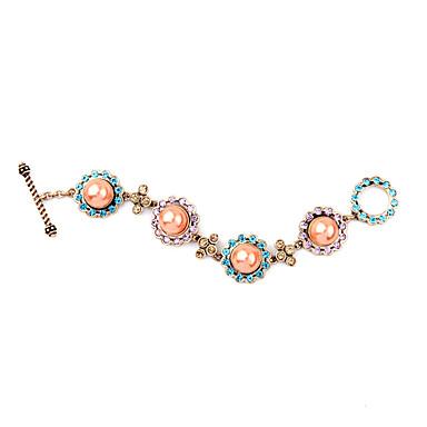 Γυναικεία Βραχιόλια με Αλυσίδα & Κούμπωμα Φιλία Μοντέρνα Κράμα Round Shape Κοσμήματα Για 1pc