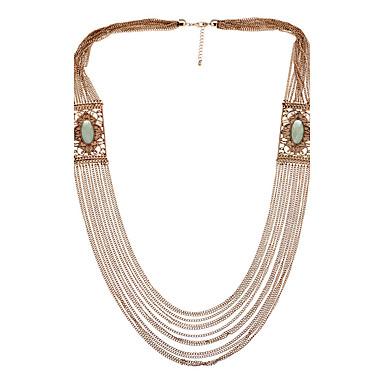 billige Mode Halskæde-Dame Kort halskæde Krystal Mode Personaliseret Sød Stil Euro-Amerikansk Smykker For Bryllup Fest 1 Stk.