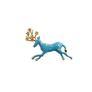 Γυναικεία Καρφίτσες Κοσμήματα Άνιμαλ Μοντέρνα Πεπαλαιωμένο χαριτωμένο στυλ Euramerican Στρας Εμαγιέ Κράμα Animal Shape Κοσμήματα Για