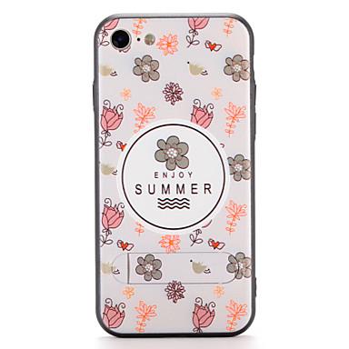 Pouzdro Uyumluluk Apple iPhone 7 Plus iPhone 7 Satandlı Arka Kapak Çiçek Sert PC için iPhone 7 Plus iPhone 7 iPhone 6s Plus iPhone 6s