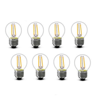 2W E14 E27 LED-gloeilampen G45 2 leds COB Decoratief Warm wit 200lm 2700K AC220 AC230 AC240V