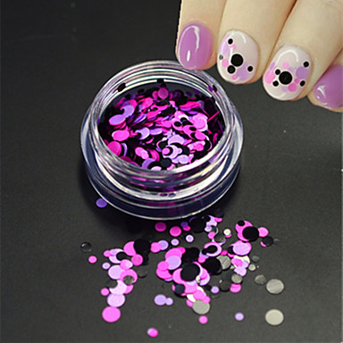 1bottle moda unghii art glitter rotund paillette unghii art diy frumusete rotund felie romantic design decorare p23