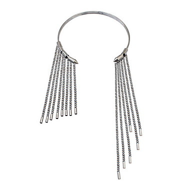 billige Mode Halskæde-Dame Kort halskæde Smykker Smykker Rhinsten Fjer Legering Mode Personaliseret Euro-Amerikansk Smykker Til Fest Speciel Lejlighed
